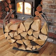 Handmade Log Holder from Chicken Shed Creations