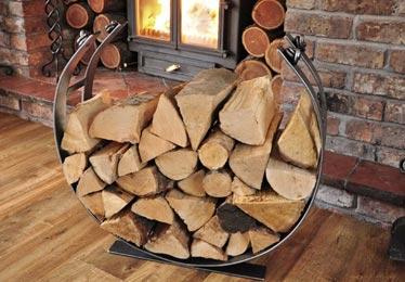 Hand Made Log Holder, UK